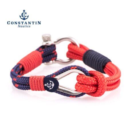 Мужской красно-синий браслет морской тематики — № 707