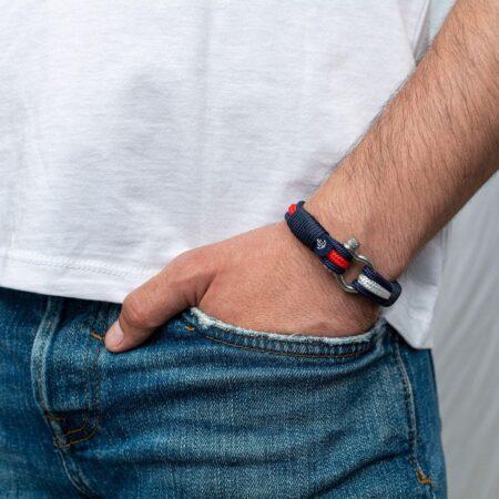 Морской браслет красно-белого цвета для мужчин и женщин — № 3014 фото 4