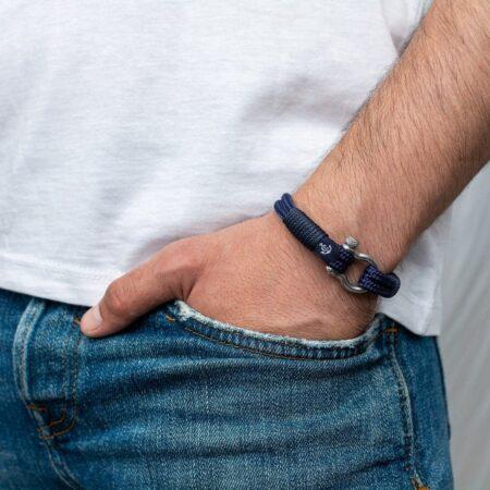 Морской браслет тёмно-синего цвета для мужчин и женщин — № 3118 фото 4