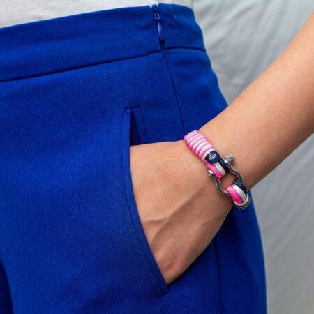 Морской браслет розового цвета для женщин — № 3128 фото 4