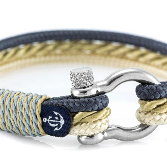 Морской браслет для мужчин и женщин в серо-бежевом цвете — № 4063
