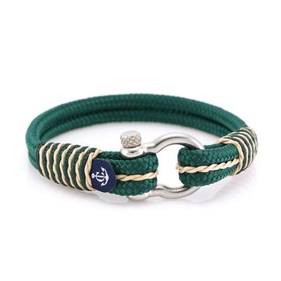 Морской зелёный браслет для мужчин и женщин — № 4067