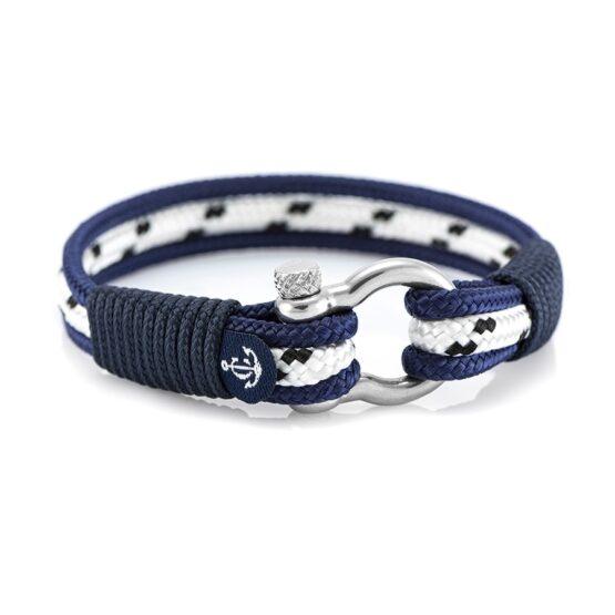 Синий браслет морской тематики для мужчин и женщин — № 5011