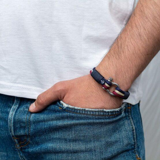 Трёхцветный морской браслет для мужчин и женщин — № 5023 фото 4