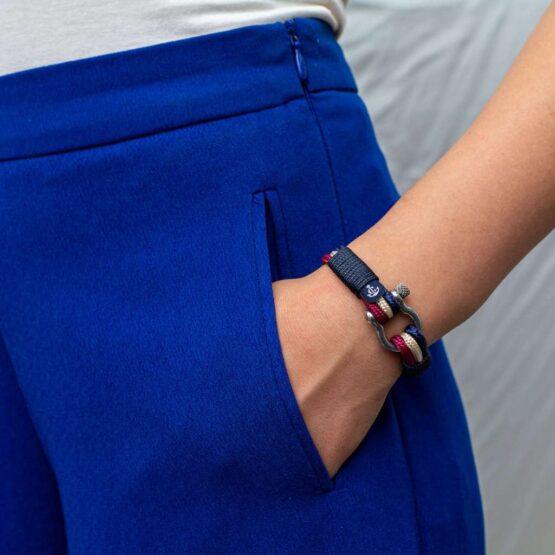 Трёхцветный морской браслет для мужчин и женщин — № 5023 фото 5