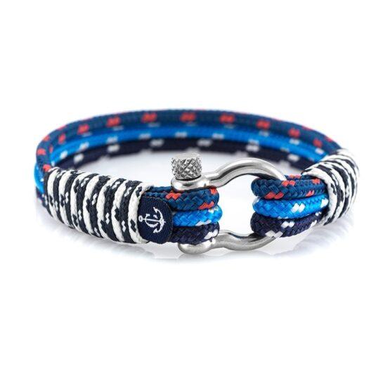 Морской комбинированный браслет для мужчин и женщин — № 5024