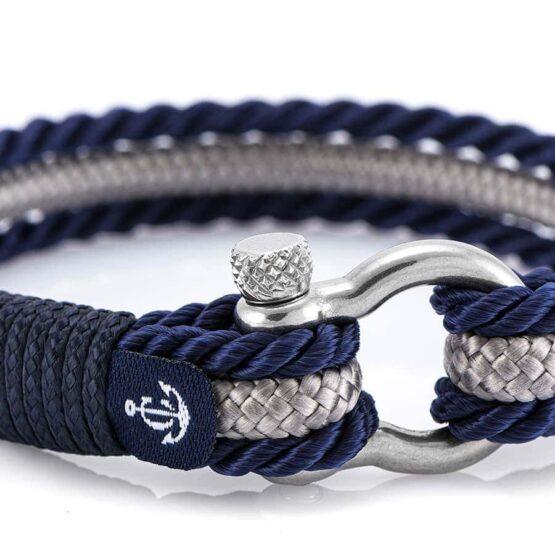Браслет серо-синего цвета для мужчин и женщин — № 5028