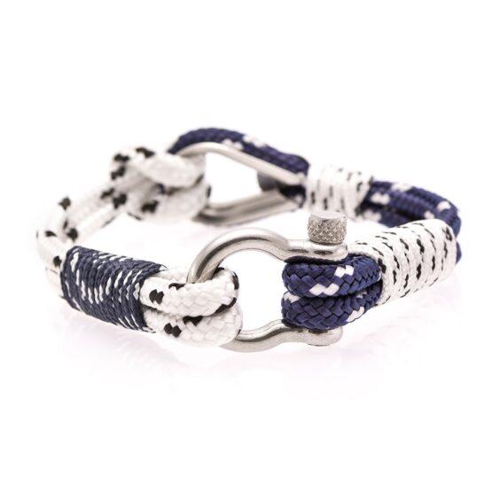 Мужской бело-синий браслет морской тематики — № 700
