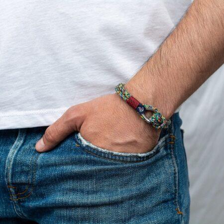 Морской комбинированный браслет для мужчин и женщин — № 706
