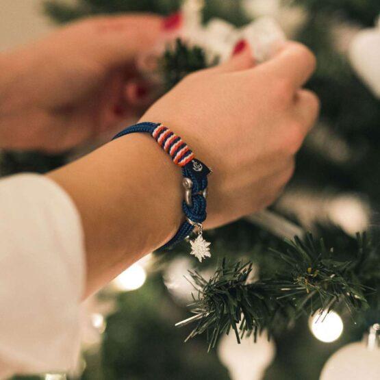 Браслет сваровски тёмно-синего цвета для женщин — № 7069 фото 6