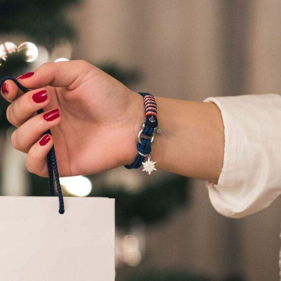 Браслет сваровски тёмно-синего цвета для женщин — № 7069 фото 7