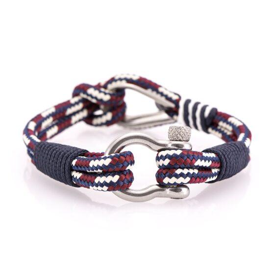 Комбинированный морской мужской браслет — № 711