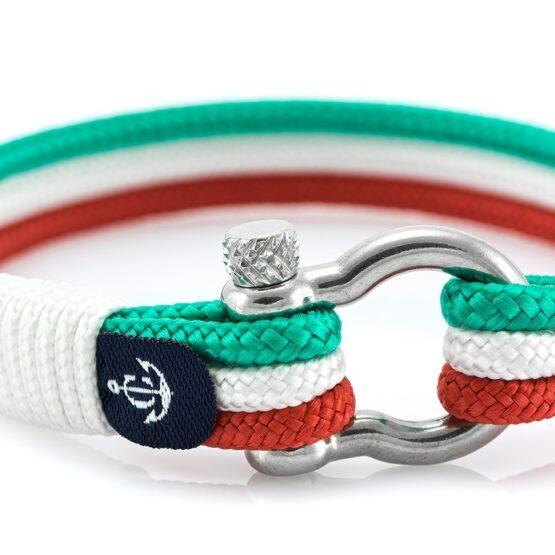 Морской трёхцветный мужской и женской браслет — № 7543