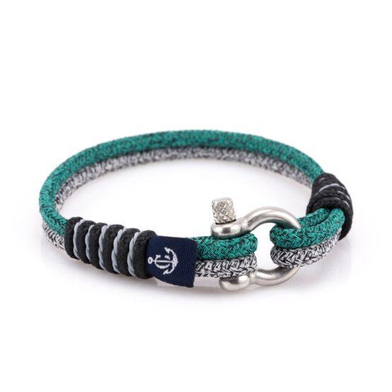 Серый комбинированный тонкий браслет для женщин — SLIM 808