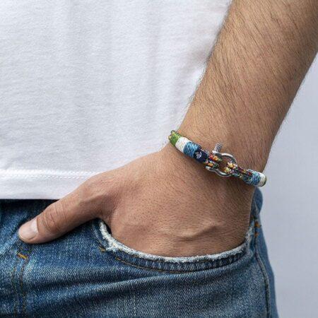 Комбинированный тонкий браслет для женщин — SLIM 816 17cm