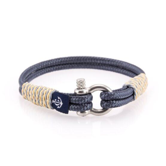 Тонкий серый браслет для мужчин и женщин — № 822