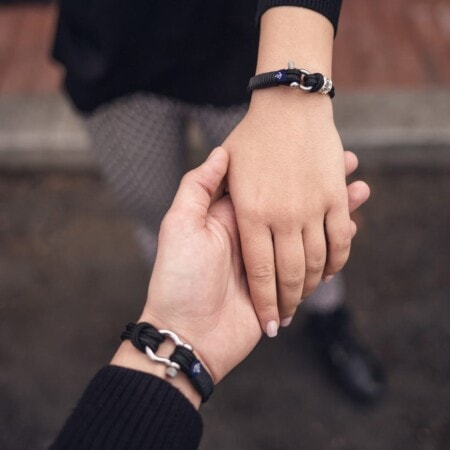Парные браслеты для влюбленных с камнем Swarovski — № 929 фото 2