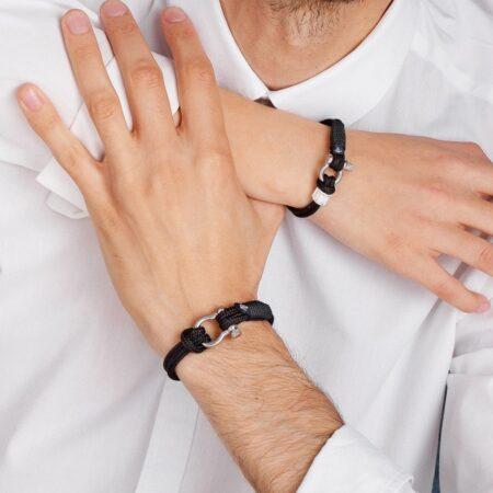 Парные браслеты для влюбленных с камнем Swarovski  — № 929