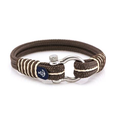 Морской коричневый браслет для мужчин и женщин — № 4064