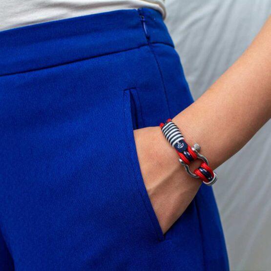 Браслет из красных и синих нитей для мужчин и женщин — № 5051 фото 5