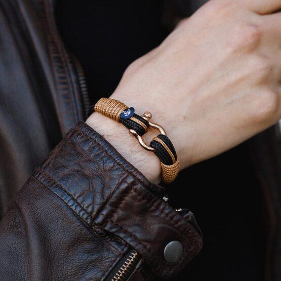 Черный морской браслет на руку для мужчин и женщин — SUNRISE 4086