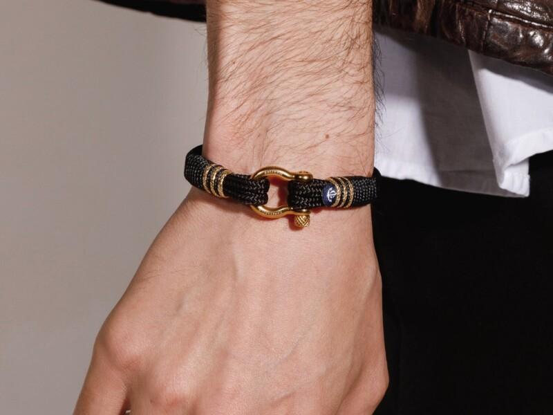 Черный морской браслет на руку для мужчин и женщин — SUNRISE 4099