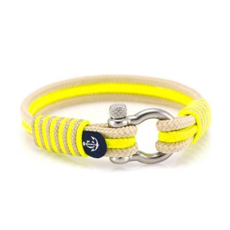 Браслет лимонного и бежевого цвета для мужчин и женщин — № 5081