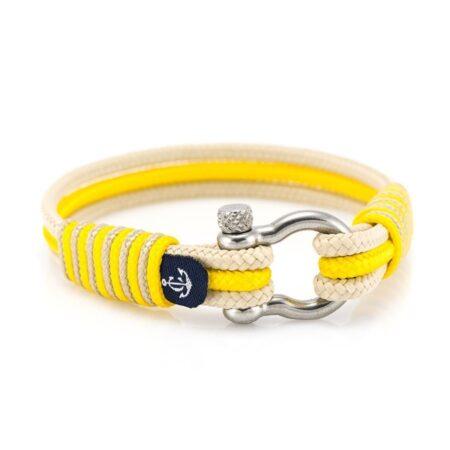 Морской браслет жёлтого и бежевого цвета для мужчин и женщин — №5082