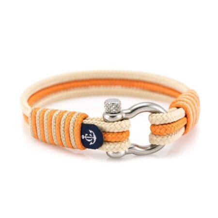 Морской браслет бежево-оранжевого цвета для мужчин и женщин — № 5084
