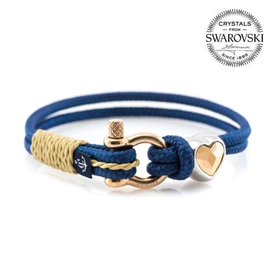 Синий женский браслет с камнем Сваровски  — SWAROVSKI SUNRISE 7182