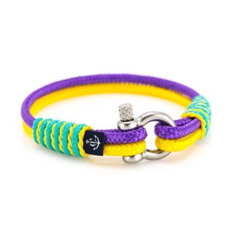 Тонкий фиолетовый жёлтый браслет для женщин — № 833