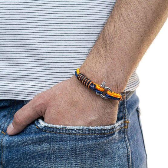 Тонкий ярко-оранжевый браслет для женщин — № 837