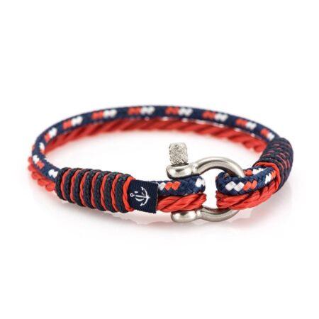 Трёхцветный тонкий браслет для мужчин и женщин — № 847