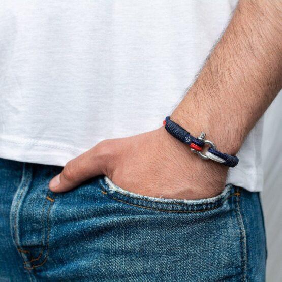 Трёхцветный тонкий браслет для мужчин и женщин — № 861 фото 4