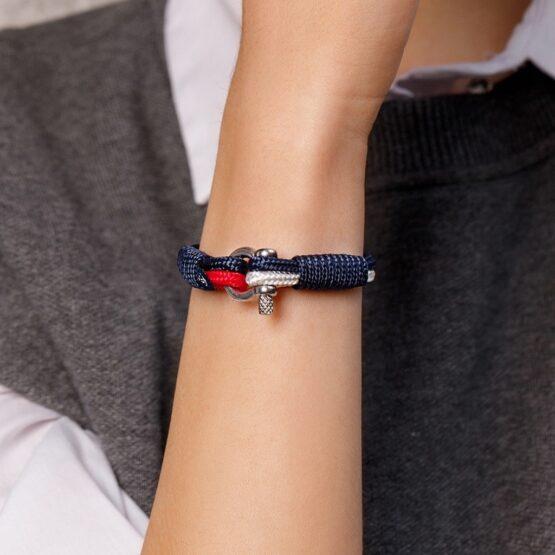 Трёхцветный тонкий браслет для мужчин и женщин — № 861