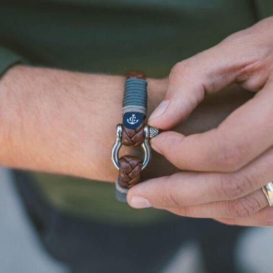 Коричневый кожаный браслет для мужчин и женщин — № 10019 фото 4