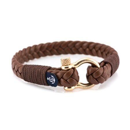 Мужской кожаный браслет — Jack Tar 10022