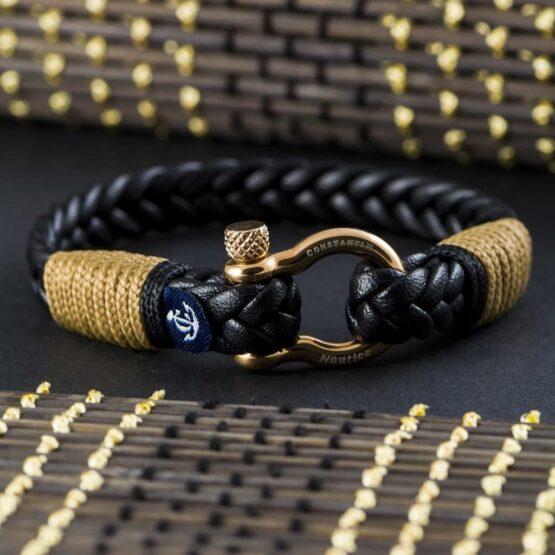 Мужской кожаный браслет — № 10027 фото 3