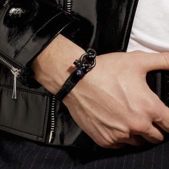 Кожаный стильный мужской браслет чёрного цвета — Jack Tar 10029 Кожаный стильный мужской браслет чёрного цвета — Jack Tar 10029 фото 6