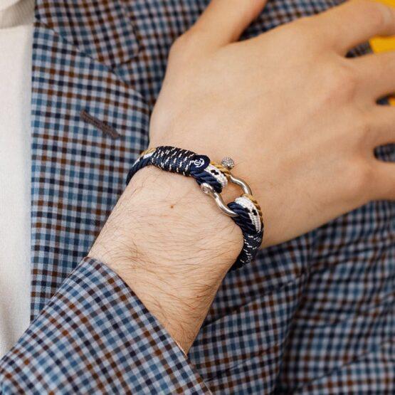 Морской трёхцветный браслет для мужчин и женщин — № 4036
