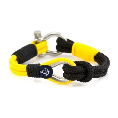 Мужской черный-желтый браслет морской тематики  — THIMBLE 716
