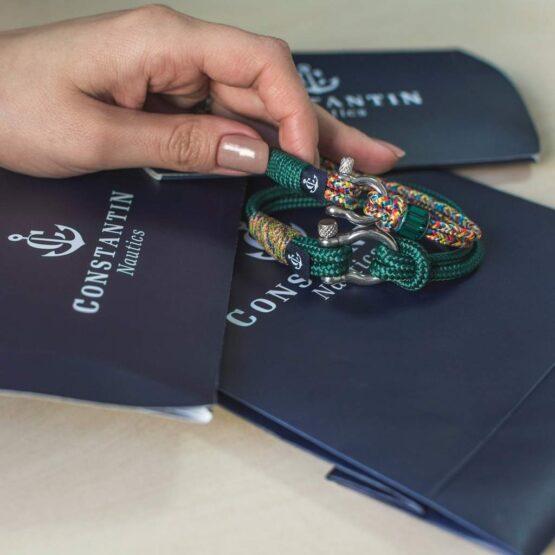 Комбинированные парные браслеты для влюблённых с кристаллом сваровски — № 913 фото 3