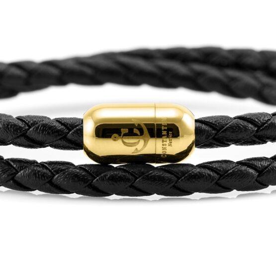Двойной кожаный браслет для мужчин и женщин с магнитом CNJ #10037