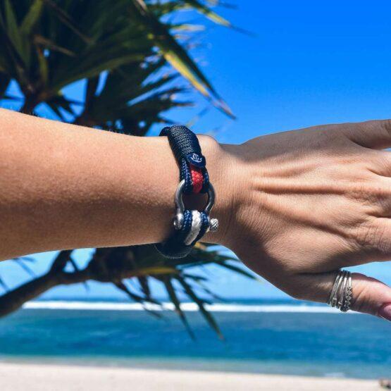 Парные браслеты для влюблённых красно-белого цвета — № 948 фото 7