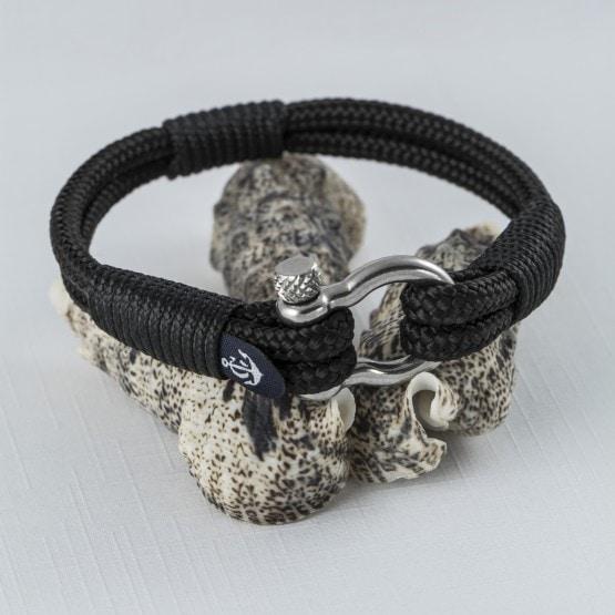 Парные браслеты чёрного цвета для влюблённых — № 949 фото 5