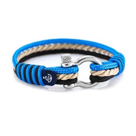 Комбинированный морской браслет для мужчин и женщин — № 4004