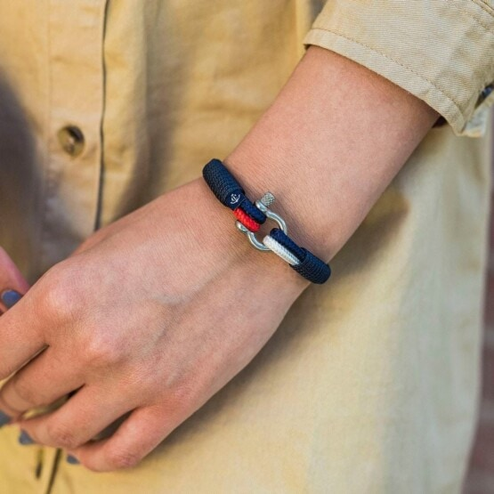 Парные браслеты для влюблённых красно-белого цвета — № 948 фото 4