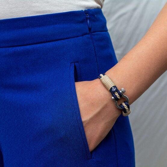 Морской браслет бежевого цвета для мужчин и женщин — № 4011 фото 5
