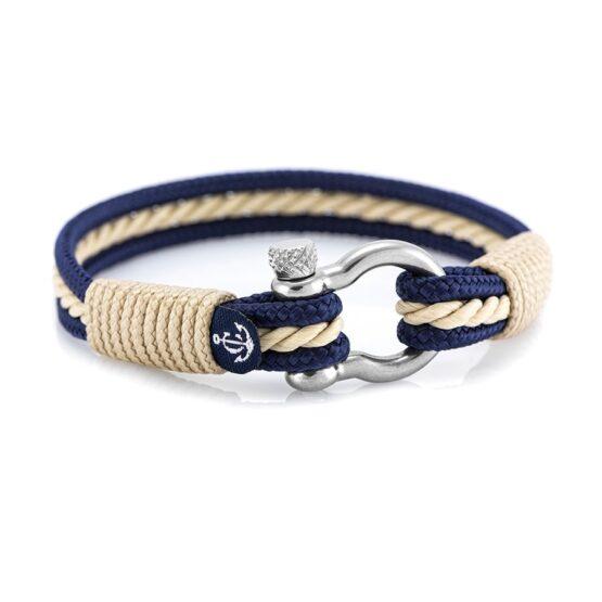 Морской браслет бежевого цвета для мужчин и женщин — № 4011