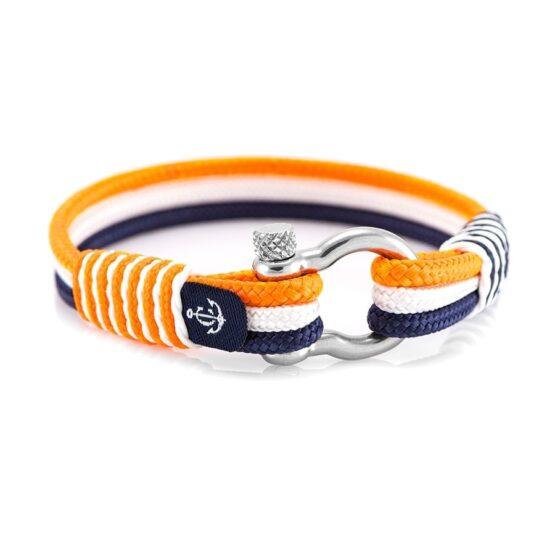 Морской браслет для мужчин и женщин с оранжевым оттенком — № 3125